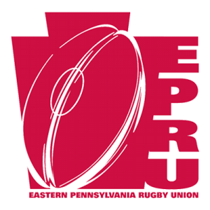Eastern Pennsylvania Rugby Union logo with rugby ball in it