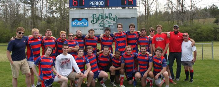 Ole Miss Rugby team at the field