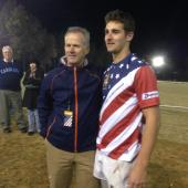Boathouse's Doug Tibbetts gave out the Men of the Match awards