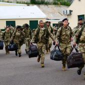 Bermuda Soldiers at Warwick Camp