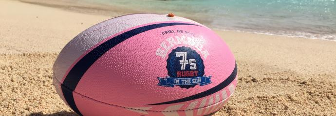 Bermuda Pinks and blue ball nestled in the sandy beaches