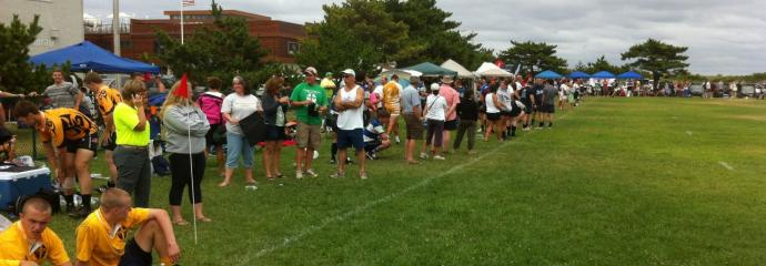 Over 3000 fans and players attended the 2012 Surfside Sevens