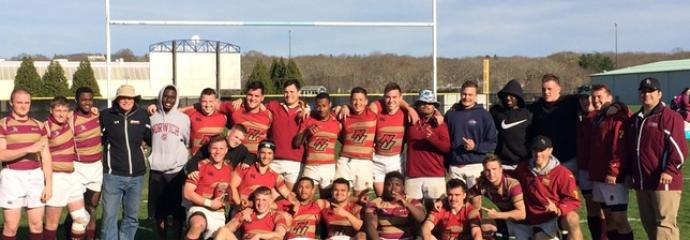 Norwich men's rugby team claimed its first New England Collegiate Rugby Conference championship