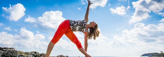 Yoga on the Beach in Bermuda
