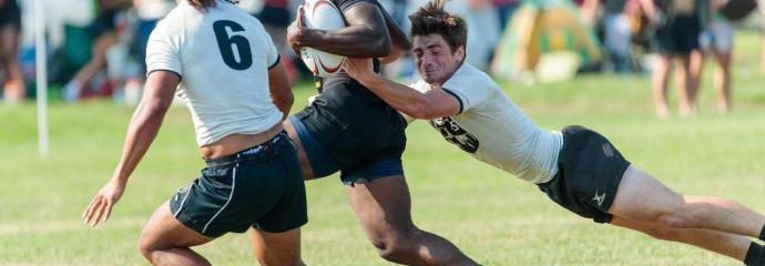 Schuylkill River dives for the takedown at 2019 Philly Sevens