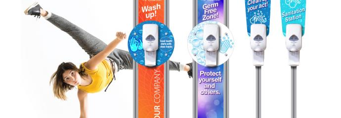 stop the spread of harmful germs by ordering a hand sanitizer station for your business