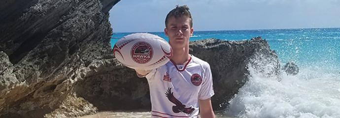 Mark Lee Dombroski, age 19 of Media, PA, was found deceased on March 19, 2018 (Feast of St. Joseph) in Bermuda, because of injuries sustained from a fall.