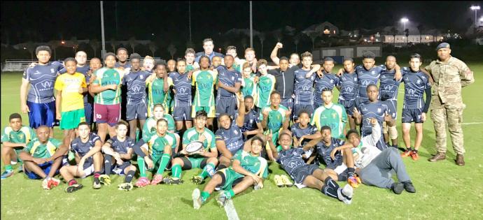 Ariel Re High School Rugby League team photo