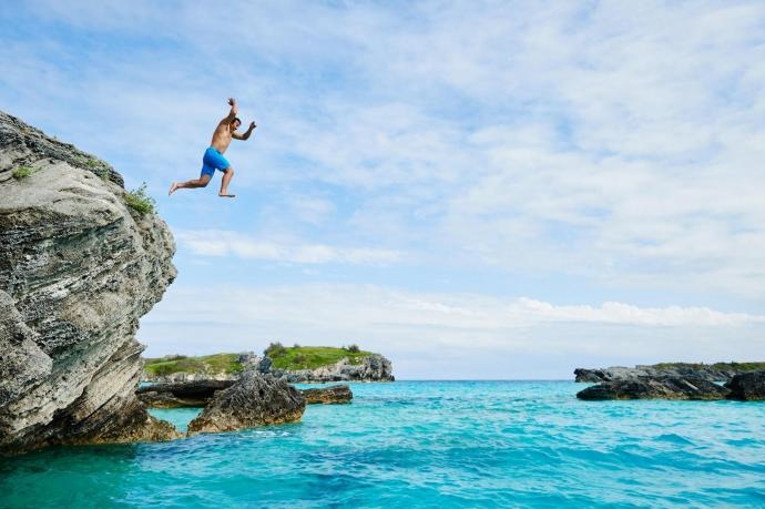 Cliff Dive Off Clarence Cove