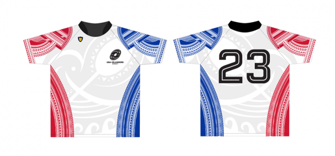 USA Islanders rugby jersey designed by 4x3 creative studio