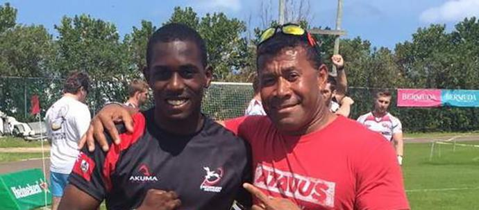 Mikle Dill with Waisale Serevi