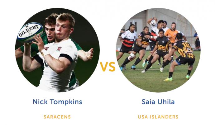 Nick Tompkins vs Saia Uhila Rugby Matchup