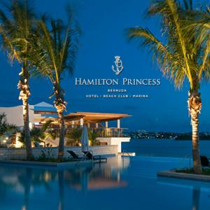 Hamilton Princess & Beach Club logo and view