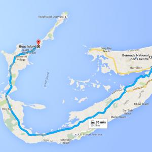 Map Sandys Parish Bermuda